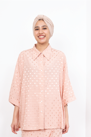 Emma Top in Pink Polka