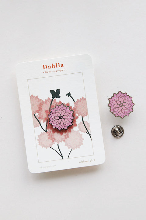 Dahlia Woman-In-Progress Enamel Pin
