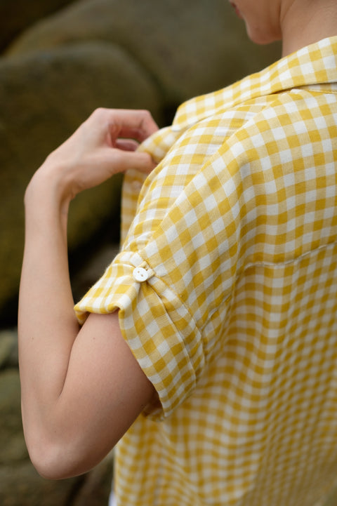 Picnic Gingham Shirt in Yellow