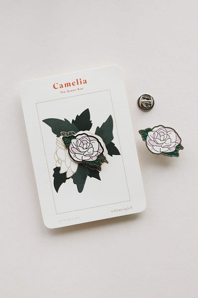 Camelia Woman-In-Progress Enamel Pin