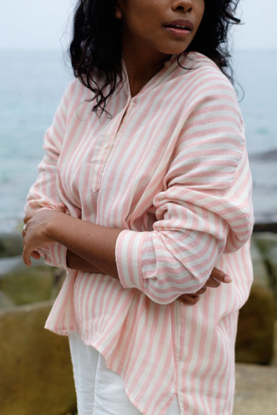 Picnic Stripe Shirt in Pink