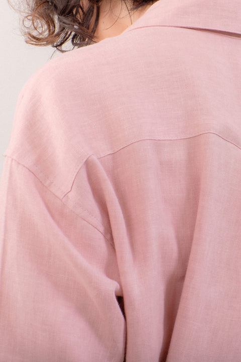 The Everyday Linen Shirt in Blush