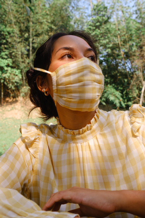 String Face Mask - Gingham Series