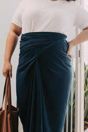 The Chiller Knot Skirt in Butterfly Pea