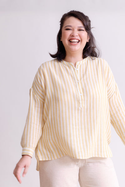 Picnic Stripe Shirt in Yellow