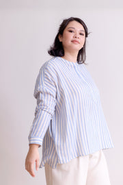 Picnic Stripe Shirt in Blue
