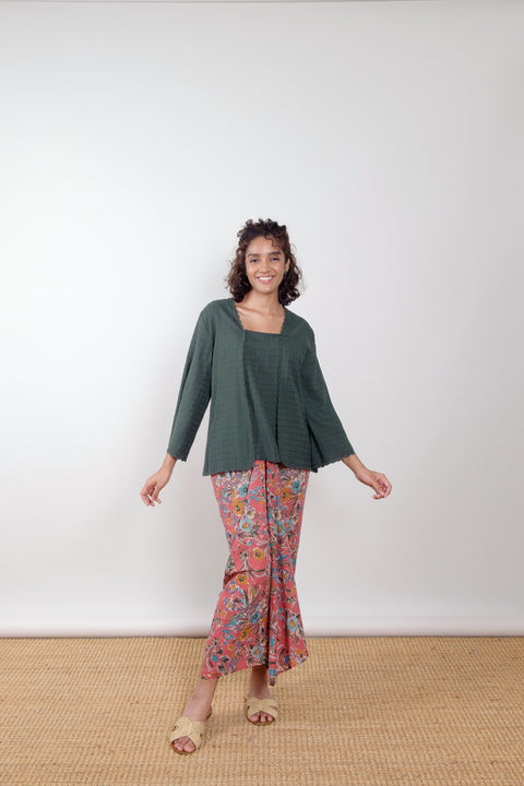 Orkid Top in Green