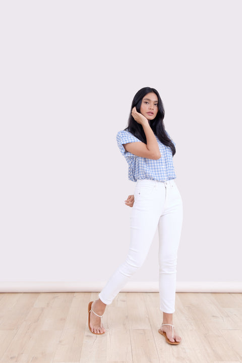 Picnic Gingham Shirt in Blue