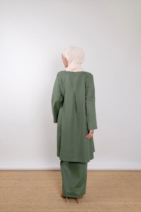 Kuntum Set in Forest Green