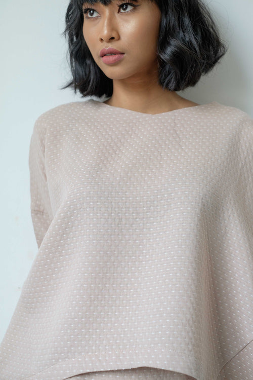Laila Woman Top in Eggshell