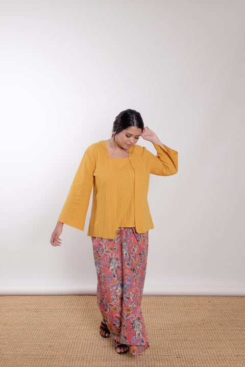 Orkid Top in Yellow