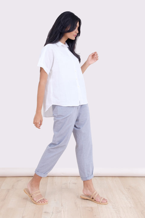 Picnic Jogger in Light Blue Chambray