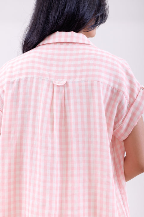 Picnic Gingham Shirt in Pink