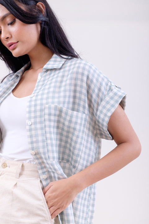 Picnic Gingham Shirt in Green