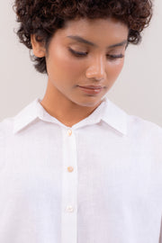 The Short Sleeve Linen Shirt in White