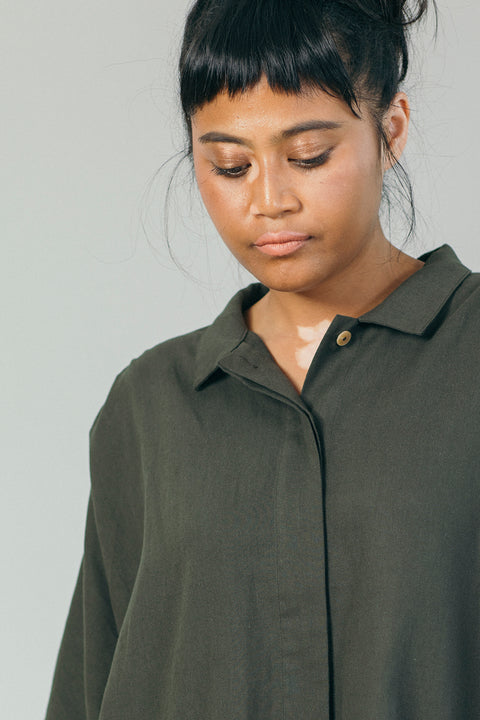 The Utility Shirt in Evergreen