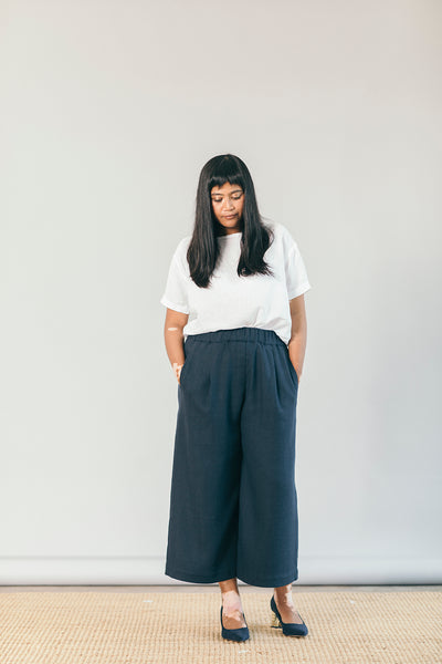 The Comfy Culottes in Navy