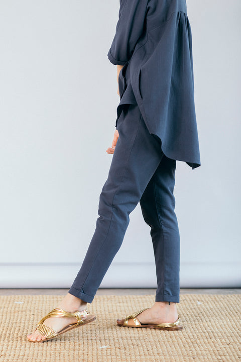 The Utility Suit in Dusty Blue