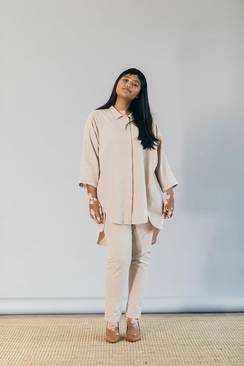 The Utility Suit in Oatmeal