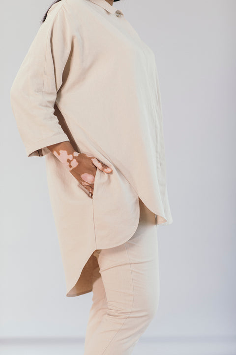 The Utility Shirt in Oatmeal