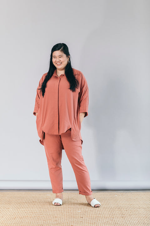 The Utility Suit in Teracotta