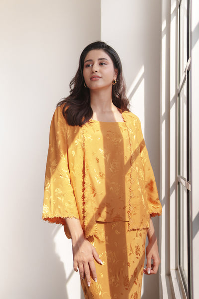Rani 2-piece Kebaya Top in Mustard