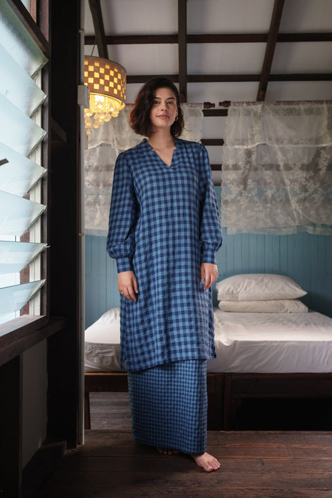 Ayu Kurung Set in Blue