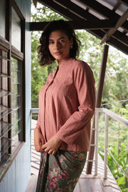 Juita Kebaya Top in Blush