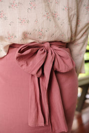 Chiller Knot Skirt in Raspberry