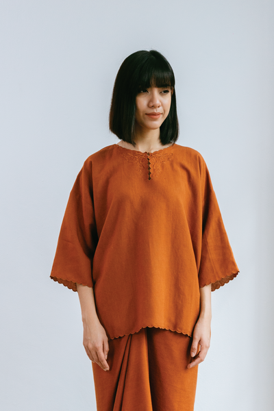 Murni Top in Burnt Orange