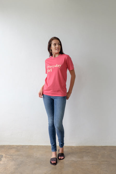 Everyday Girl Tshirt in Heather Red