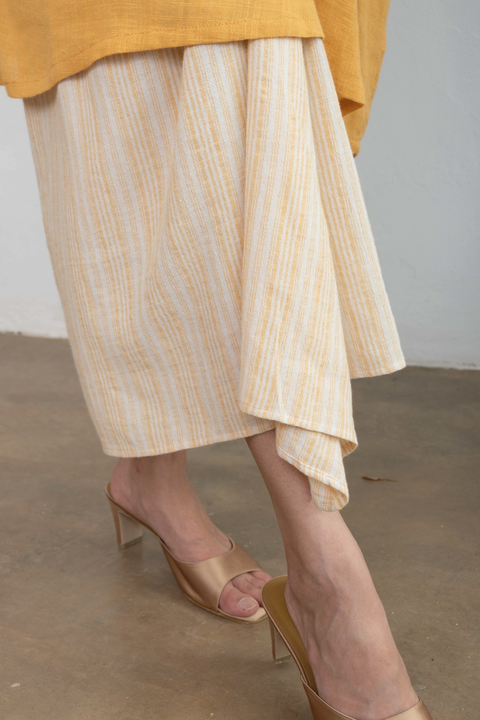Knot Skirt in Yellow Stripe