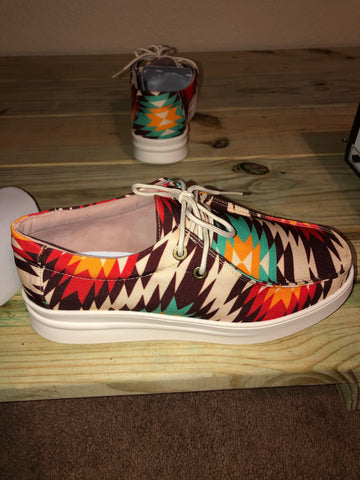 Everglades Aztec Orange Shoes