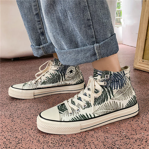 Men's wild high-top canvas shoes