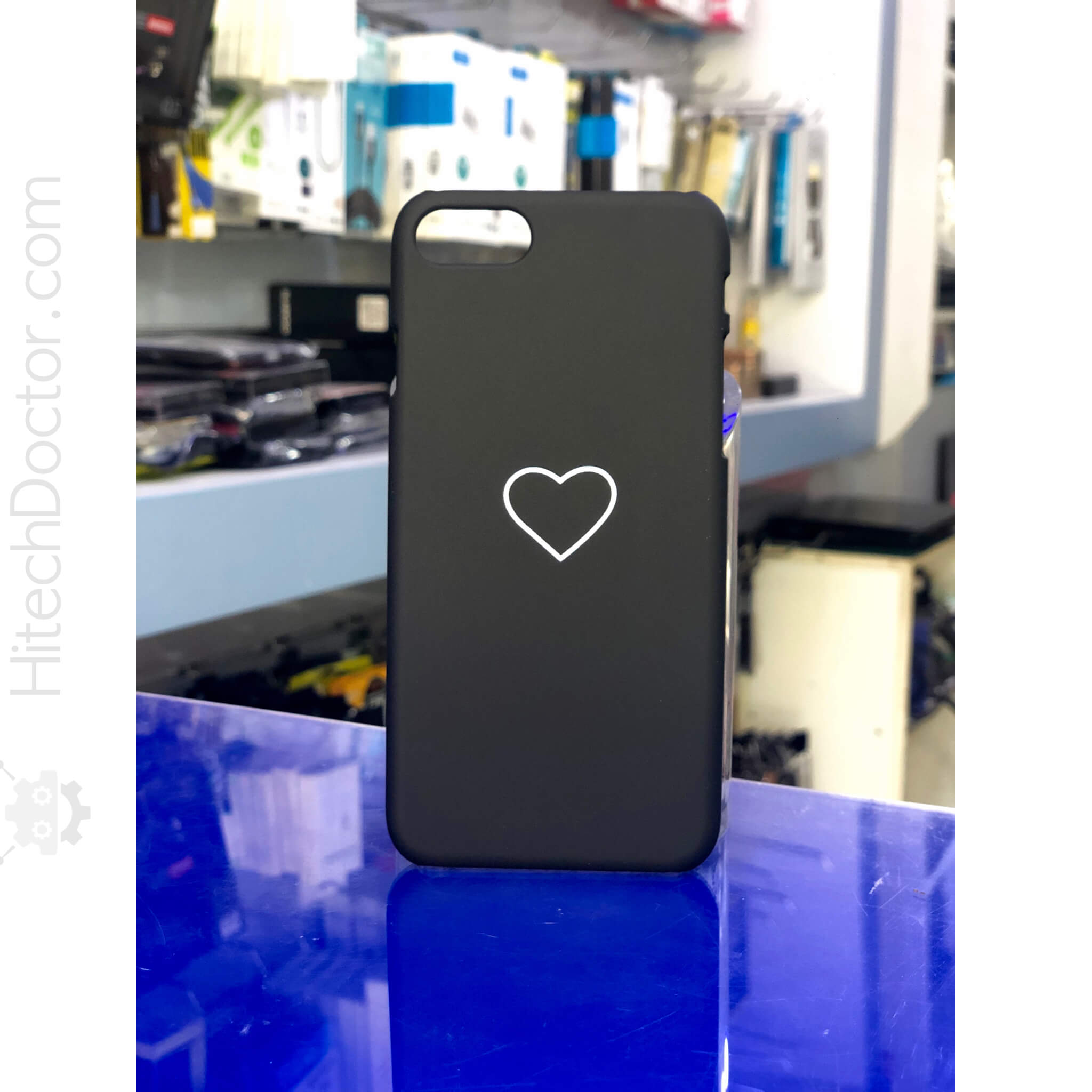 Black heart Case iPhone 8-7