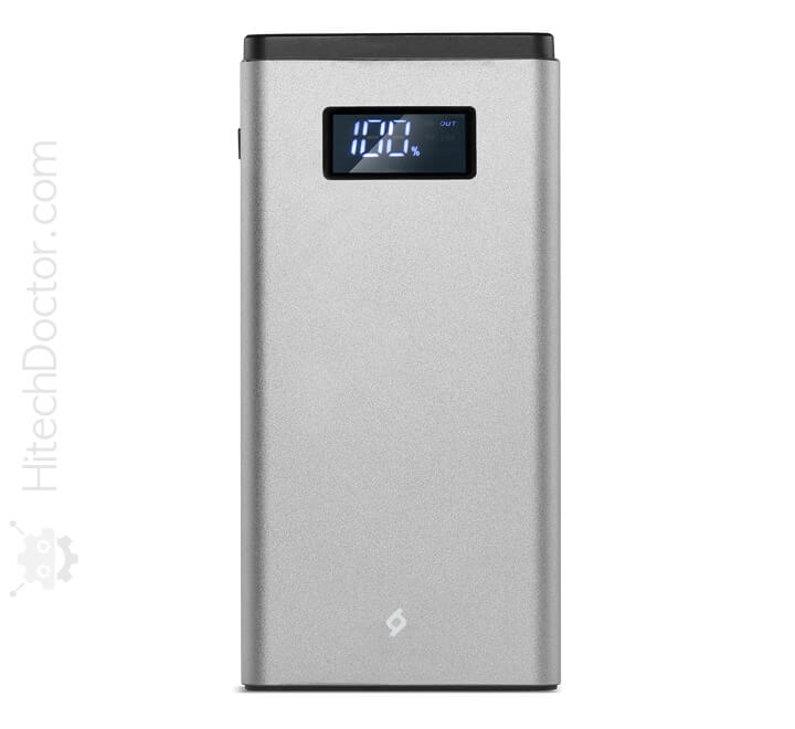 Power Bank AlumiSlim QC LCD 10.000mAh Silver