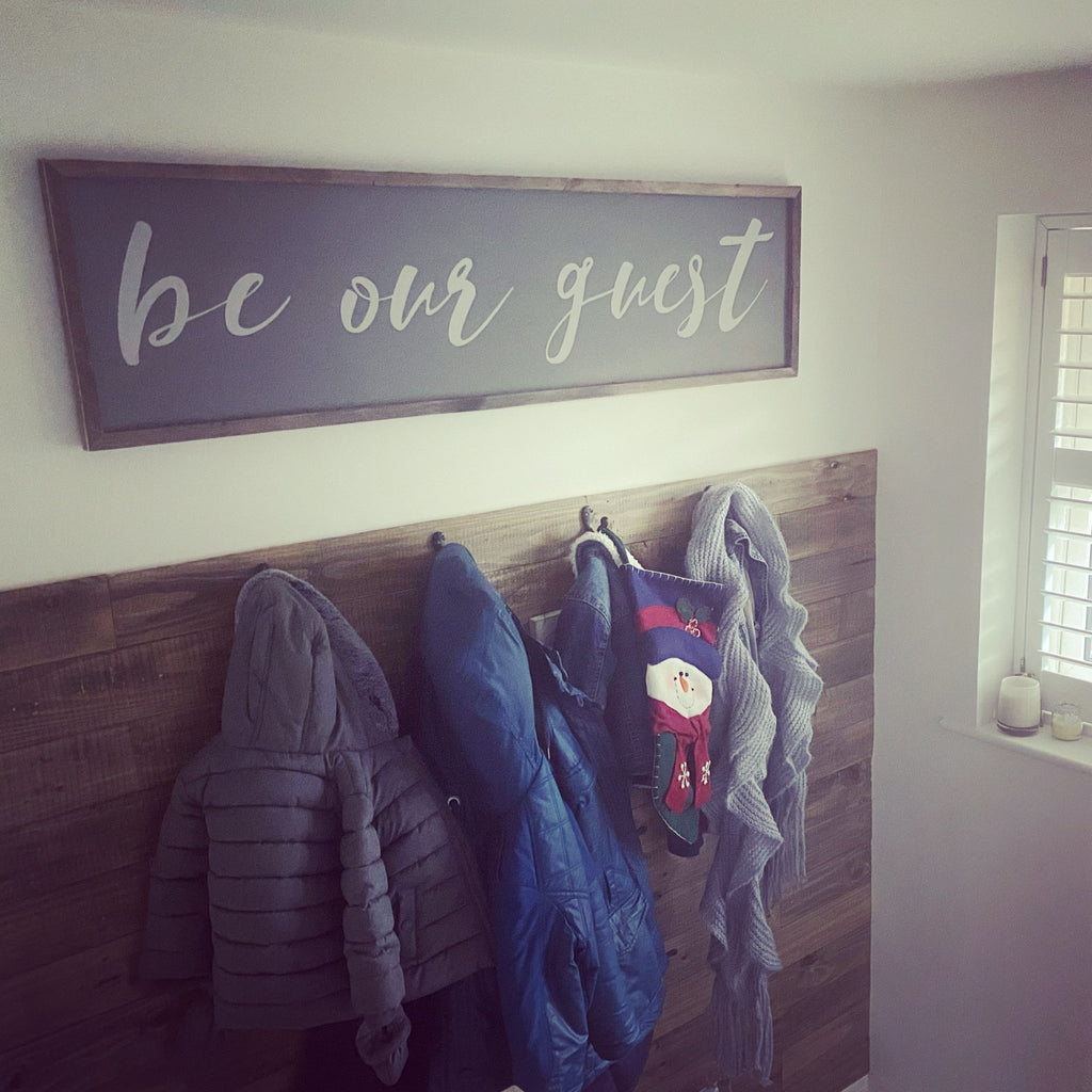 Be Our Guest | Framed Wood Sign - The Imperfect Wood Company - Framed Wood Sign