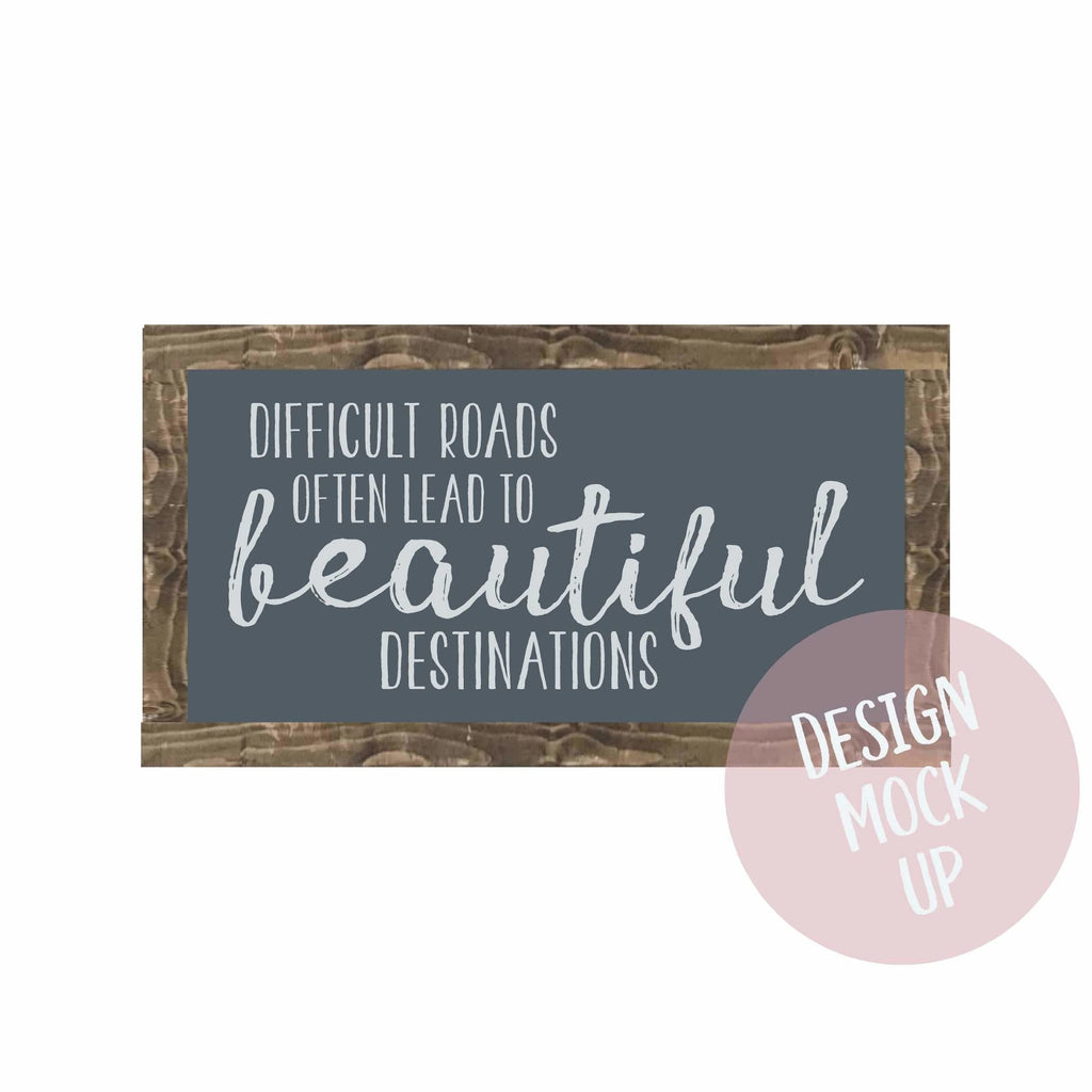 Beautiful Destinations | Framed wood sign | #MIND - The Imperfect Wood Company - Framed Wood Sign