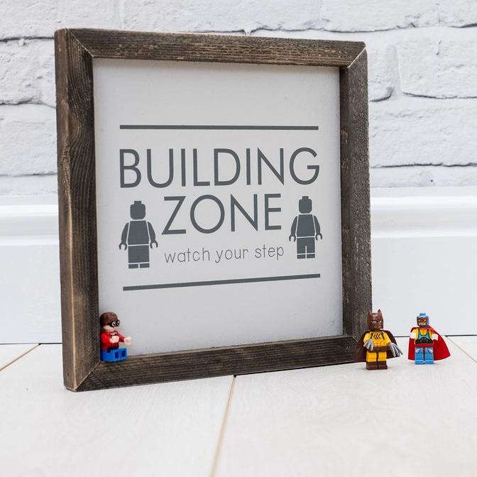 Building Zone | Framed Wood Sign - The Imperfect Wood Company - Framed Wood Sign