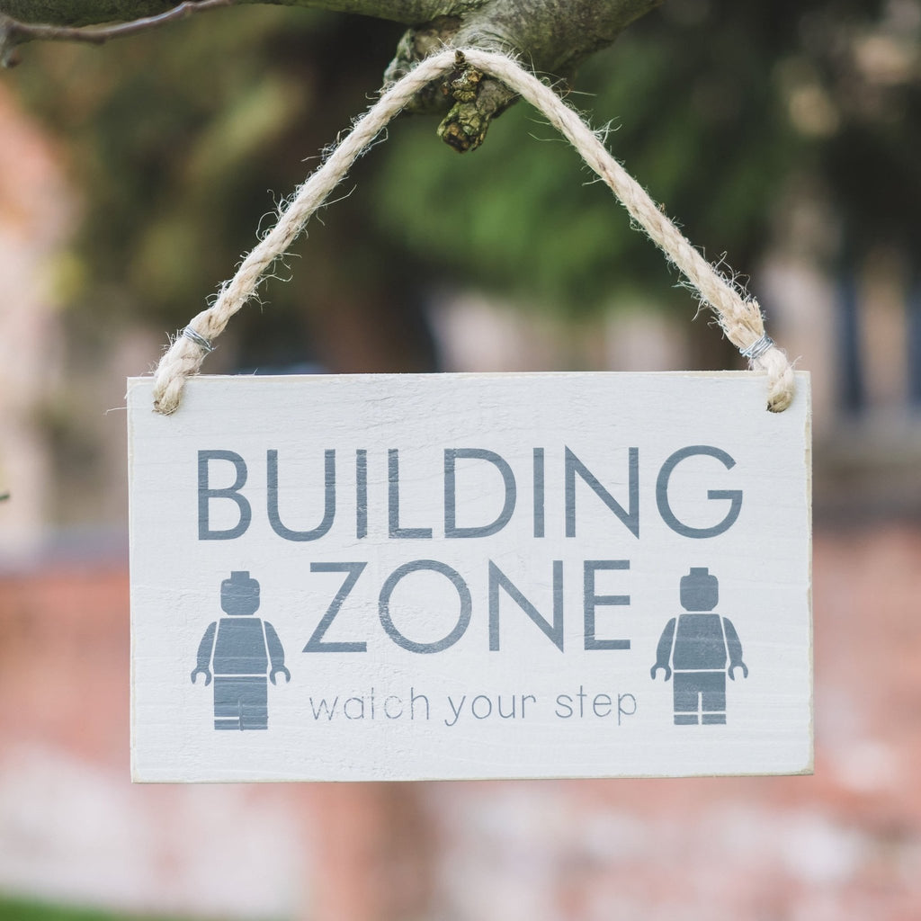 Building Zone | Hanging Wood Sign - The Imperfect Wood Company - Hanging Wood Sign