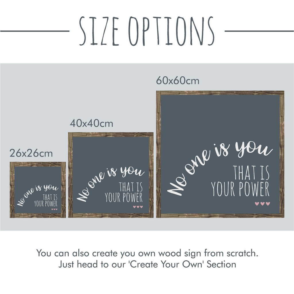 Framed Wood Signs - Size Options - The Imperfect Wood Company