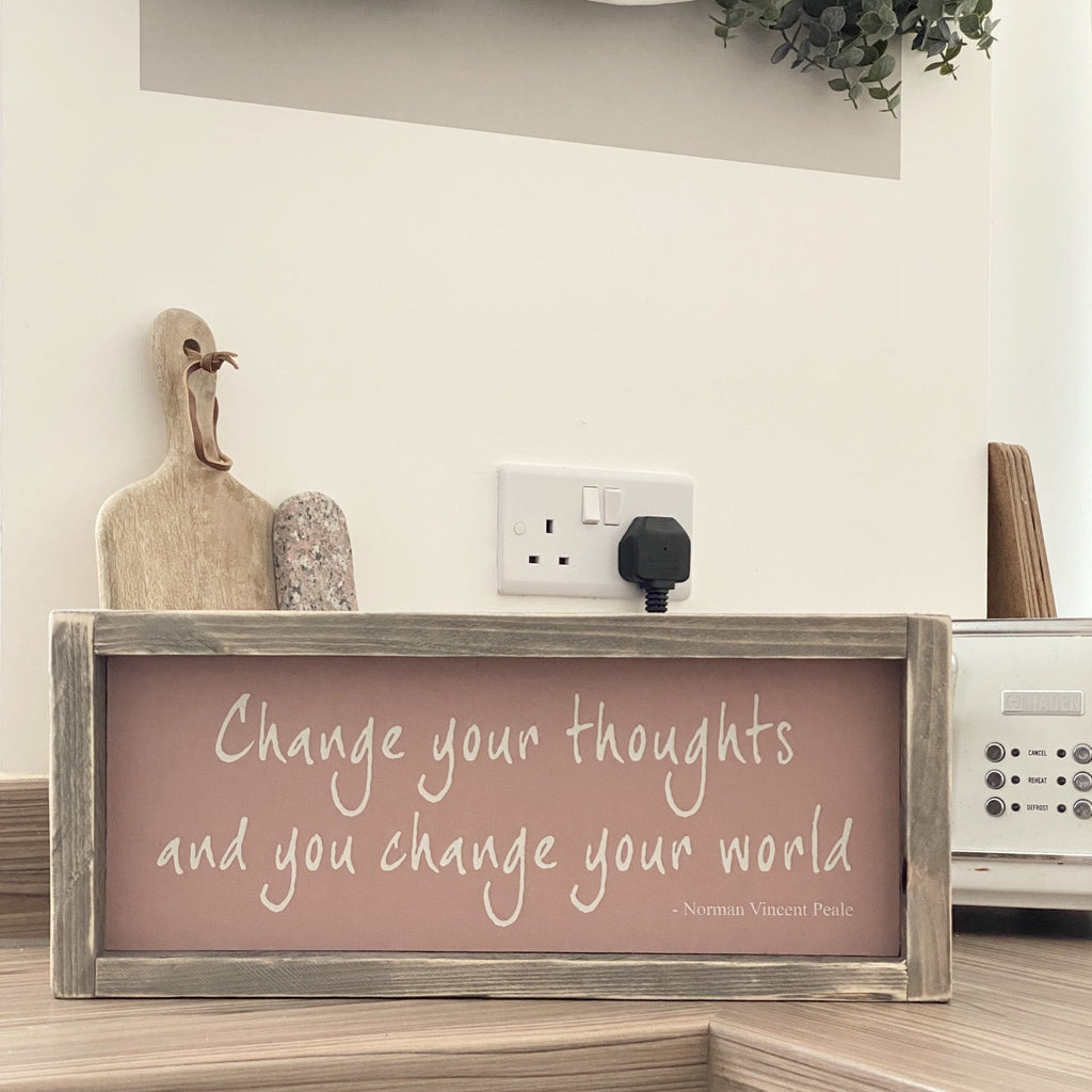 Change Your Thoughts | Framed wood sign | #MIND - The Imperfect Wood Company - Framed Wood Sign
