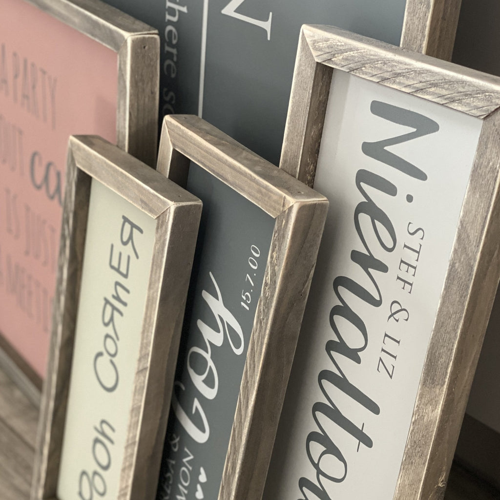 Create your own Framed Wood Sign | Bespoke - The Imperfect Wood Company - Framed Wood Sign