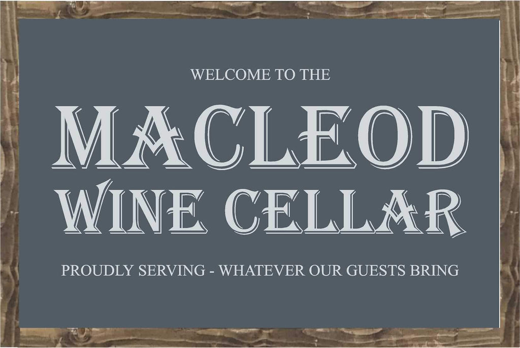CUSTOM | Framed Wood Sign | Macleod Wine Cellar - The Imperfect Wood Company - Custom