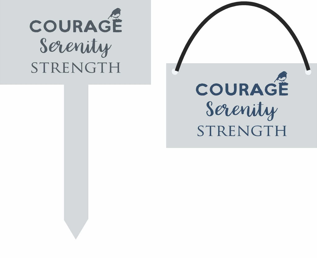 CUSTOM | Wood Sign | Courage Serenity Strength - The Imperfect Wood Company - Custom