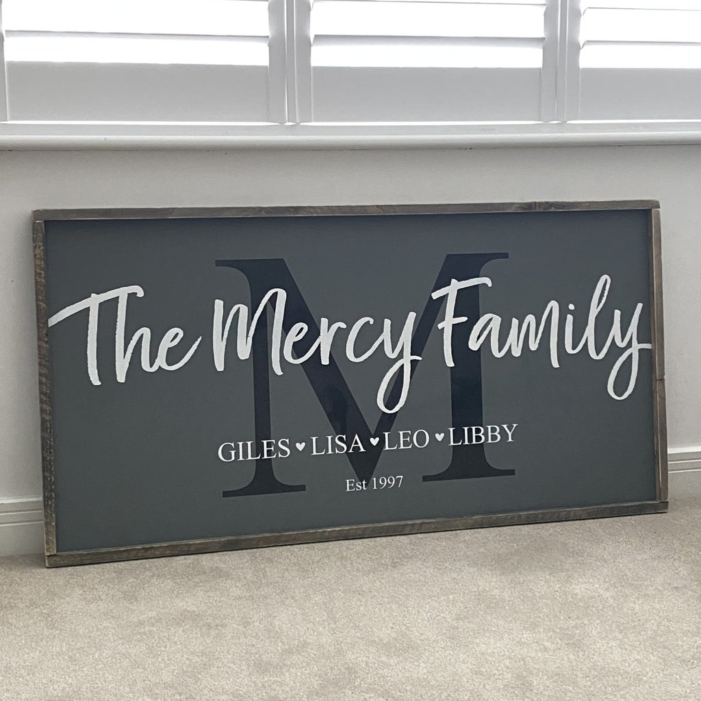 Family Sign | Framed Wood Sign - The Imperfect Wood Company - Framed Wood Sign