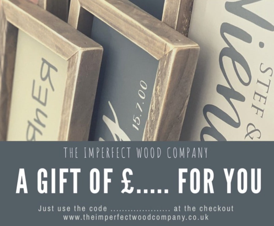 Gift Card - The Imperfect Wood Company - Gift Card