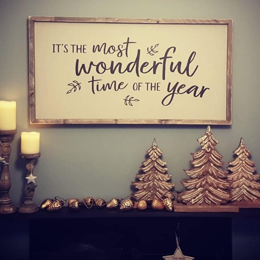 It's the Most Wonderful Time... | Framed Wood Sign - The Imperfect Wood Company - Framed Wood Sign