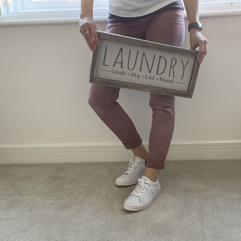 Laundry | Framed Wood Sign - The Imperfect Wood Company - Framed Wood Sign