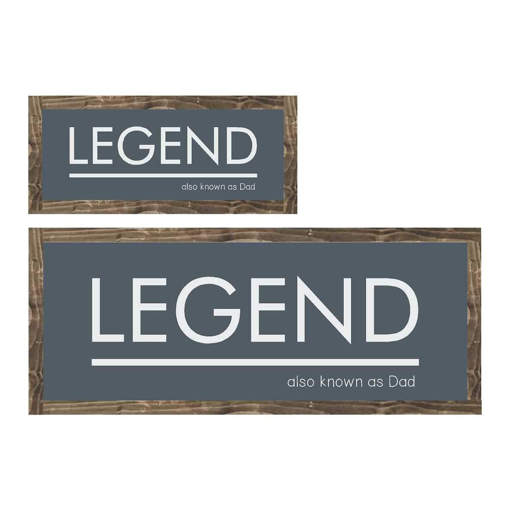 Legend | Framed Wood Sign - The Imperfect Wood Company - Framed Wood Sign